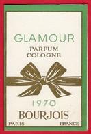 -- CALENDRIER 1970 - GLAMOUR PARFUM COLOGNE BOURJOIS -- - Calendriers