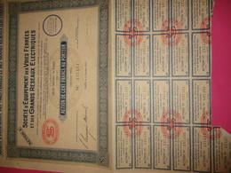 Action De 100 Francs Au Porteur/Société D'Equipement Des Voies Ferrées Et Grands Réseaux électriques/1929   ACT188 - Railway & Tramway