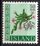 Iceland 1968 - Flowers - 1944-... Republik