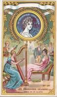 """Vers 1900 Chicorée à La Bergère Par Emile Bonzel  Haubourdin : Mme Recamier """"françaises Célèbres"""" (harpe) - Thé & Café"""