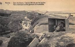 Knokke  Knocke  Kanonnen Verwoest Door De Duitsers Kanon In De Duinen Canons Guns      I 5384 - Veurne