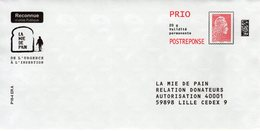Pret A Poster Reponse PRIO (PAP) La Mie De Pain Agr. 196076 - (Marianne Yseult-Catelin) - Entiers Postaux