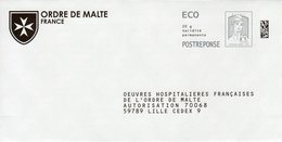 Pret A Poster Reponse ECO (PAP) Ordre De Malte Agr. 81952 - Ciappa-Kavena - Entiers Postaux