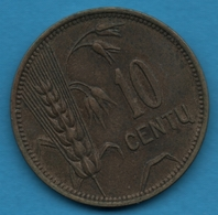 LITUANIE LIETUVOS RESPUBLIKA 10 Centu 1925 KM# 73 - Lithuania