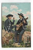 Costumes Portuguezes - Arredores De Coimbra, Musicians - Postcard From 1911 - Coimbra