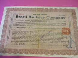 Common Shares  10/ Brazil Railway Company /Empire Trust CompanyUSA/1910  ACT190 - Chemin De Fer & Tramway