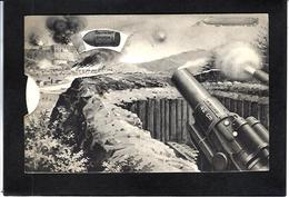 CPA Système à Roulette Non Circulé Canon Bertha Germany Allemagne Zeppelin - Mechanical