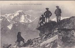 74----LE MONT BLANC Vu Du Col Du Petit Saint-bernard--voir 2 Scans - Chamonix-Mont-Blanc