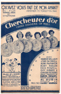 """Qu'avez-vous Fait De Mon Amant ? Marcel Duhamel, Harry Warren, Du Film """" Chercheuses D'or """", Pièces De Monnaie - Chant Soliste"""