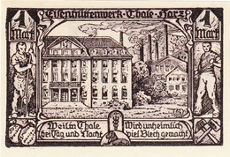 Billet Allemand - 100 Pfennig - Thale Am Harz 1922 - Stadtwappen, Eisenhüttenwerk - [11] Emissions Locales