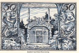 Billet Allemand - 50 Pfennig - Thale Am Harz 1922 - Stadtwappen, Teufelsmauer Et Walpurgishalle - [11] Emissions Locales