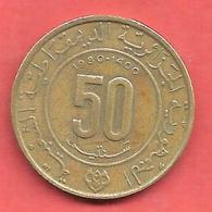 50 Centimes , ALGERIE , Alu-Bronze , AH 1400 , 1980 , N° KM # 111 - Algérie