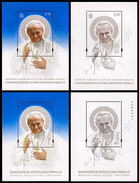 Polonia-Vaticano / Poland-Vatican 2014: 4 Foglietti Giovanni Paolo II / John Paul II  Joint Issue, 4 S/S ** - Joint Issues
