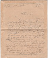"""Carte-lettre Franchise Militaire 1915 / Récit Du Front : Canon, Aéros, Croix Sapin Des Morts, Tranchées, Les """"boches"""". - 1914-18"""
