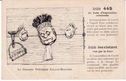 Zola_76 - Affaire Dreyfus - Article 445 - Le Premier Président Ballot-Beaupré - Judaica - Satirical