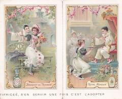 """1898 Belle Illustration Publicité Dentifrice Gellé Frères """"royal Mondain"""" Et """"bouquet De Trianon"""" - Calendars"""