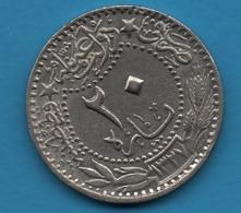 TURKEY  Empire Ottoman 20 Para 1327 (1914) ٦ - Mehmet V  KM# 761 - Turquie