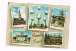 Exposition Universelle De Bruxelles.1958.Atomium.Expédié à Liège.Timbre à Surtaxe Expo 58. - Expositions Universelles