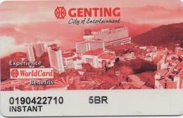 Carte De Membre Casino : Genting City Of Entertainment Malaisie - Cartes De Casino