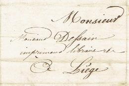 Précurseur Lettre Du 13/7/1847 Envoyée Par Porteur De OCQUIER à LIEGE - Signé FRANCOIS Instituteur - 1830-1849 (Belgica Independiente)
