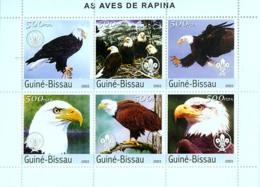 Guinea Bissau 2003  Fauna   Raptors (scouts) Birds Of Prey - Guinea-Bissau