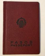 PASSPORT   REISEPASS  PASSAPORTO   PASSEPORT YUGOSLAVIA  1962. VISA TO: GERMANY , , AUSTRIA , FRANCE - Historische Dokumente