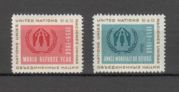 NATIONS  UNIES  NEW-YORK  1959   N° 72 - 73      NEUFS**   CATALOGUE YVERT&TELLIER - Ungebraucht