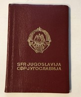 PASSPORT   REISEPASS  PASSAPORTO   PASSEPORT YUGOSLAVIA  1962. VISA TO: GERMANY   , FRANCE - Historische Dokumente