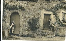 CARTOLINA       L'INDISCRET--L'INDISCRETO  ANNI  1915-16--SCRITTA  RETRO - Artisti