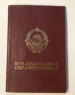 PASSPORT   REISEPASS  PASSAPORTO   PASSEPORT YUGOSLAVIA  1986. VISA TO: GREECE - Historische Dokumente