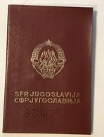 PASSPORT   REISEPASS  PASSAPORTO   PASSEPORT YUGOSLAVIA - Historical Documents