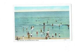 Cpa - SURF BATHING - OLD ORCHARD BEACH - MAINE  - Animation Plage Baigneurs - N° 123307 CT - Etats-Unis