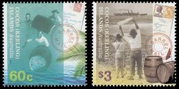 COCOS AUSTRALIE 479/80 Poste , Courrier Dans Des Barils - Poste