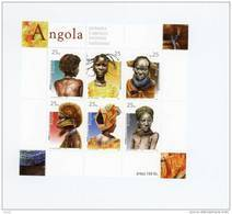 Coiffes Indigènes-Angola-2003-1551/6 Feuille***MNH - Angola