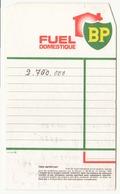 Reçu Fuel Domestique BP - Titres De Transport