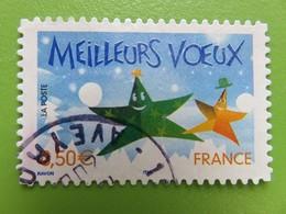Timbre France YT 44 AA (3722) - Meilleurs Voeux - Etoiles Personnages Avec Chapeaux - 2004 - Sellos Autoadhesivos