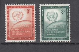 NATIONS  UNIES  NEW-YORK  1957   N° 52 - 53      NEUFS**   CATALOGUE YVERT&TELLIER - Ungebraucht
