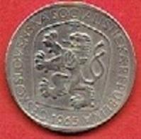 CZECHOSLOVAKIET # 3 Koruna   FRA 1965 - Czechoslovakia