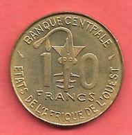 10 Francs , Etats De L' Afrique De L' Ouest , Alu-Nickel-Bronze , 1975 , N° KM # 1a - Monnaies