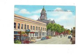 Cpa -  Ohio - WEST CENTER STREET - COURT HOUSE MARION - N°8 VOITURE Publicité COCA-COLA Billiards - Etats-Unis