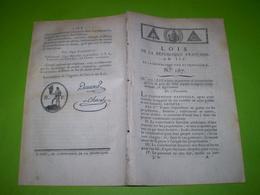An 3:Contribution Foncière.Tarif Des Patentes Selon Les Villes.Création D'une Contribution Personnelle & Taxe Somptuaire - Decrees & Laws
