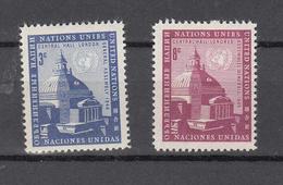 NATIONS  UNIES  NEW-YORK  1958   N° 58 - 59      NEUFS**   CATALOGUE YVERT&TELLIER - New York -  VN Hauptquartier