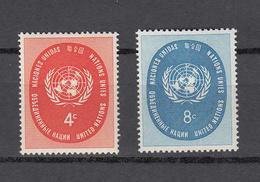 NATIONS  UNIES  NEW-YORK  1958   N° 60 - 61      NEUFS**   CATALOGUE YVERT&TELLIER - Ungebraucht