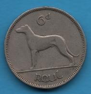 EIRE IRLANDE 6 Pingin 1 Reul 1952 KM# 13a Chien DOG - Irlande