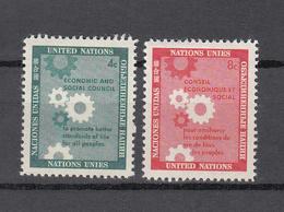 NATIONS  UNIES  NEW-YORK  1958   N° 62 - 63      NEUFS**   CATALOGUE YVERT&TELLIER - Ungebraucht