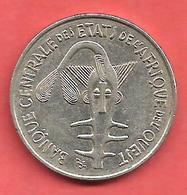 100 Francs , Etats De L' Afrique De L' Ouest , Nickel , 1976 , N° KM # 4 - Monnaies
