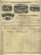 VANDEWALLE Frères Manufacture De Cigares Fins  GAND/GENT Factuur Aan Wolfcarius Mont St Amand 19 Mai 1911 - België