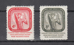 NATIONS  UNIES  NEW-YORK  1959   N° 70 - 71    NEUFS**   CATALOGUE YVERT&TELLIER - New York -  VN Hauptquartier