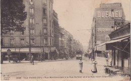 PARIS XX :  Rue De Ménilmontant à La Rue Sorbier Et à La Rue Henri Chevreau . - Arrondissement: 20