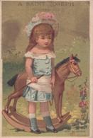 Vers 1900 Saint Joseph Nouveautés Gants,confections,lingerie : Fillette Cheval à Bascule , Jouet Enfant - Other